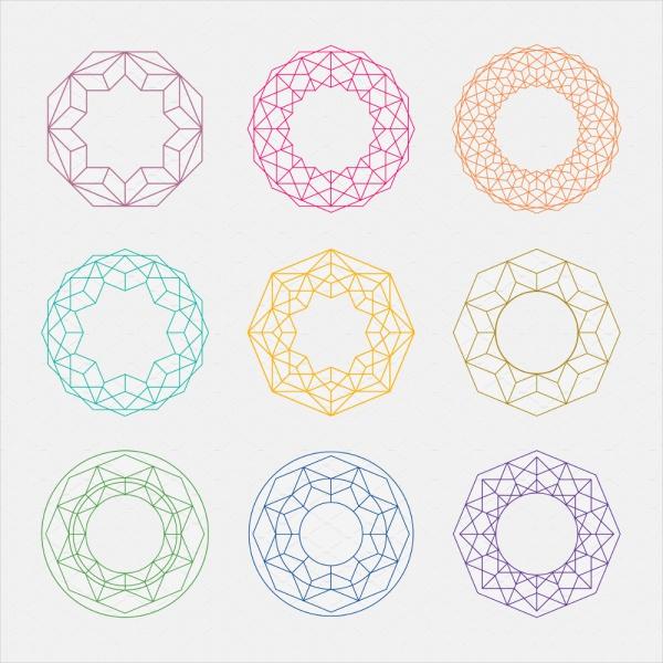 Colorful Mandalas Circle Shapes