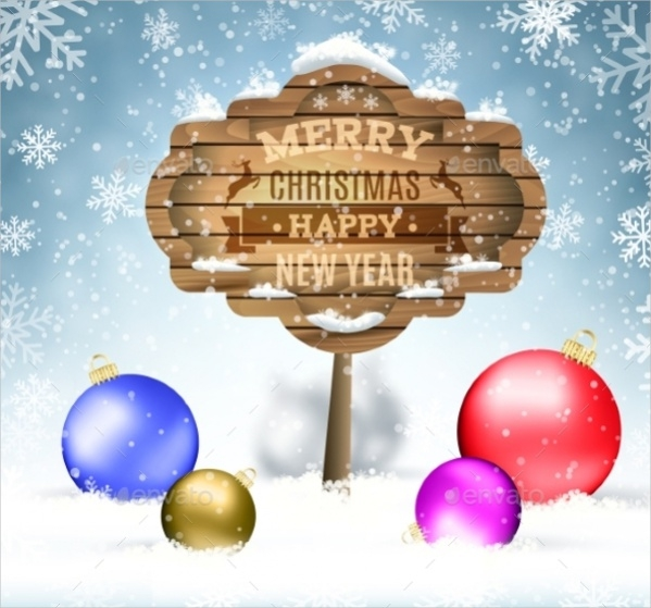 Colorful Ornamental Winter Background