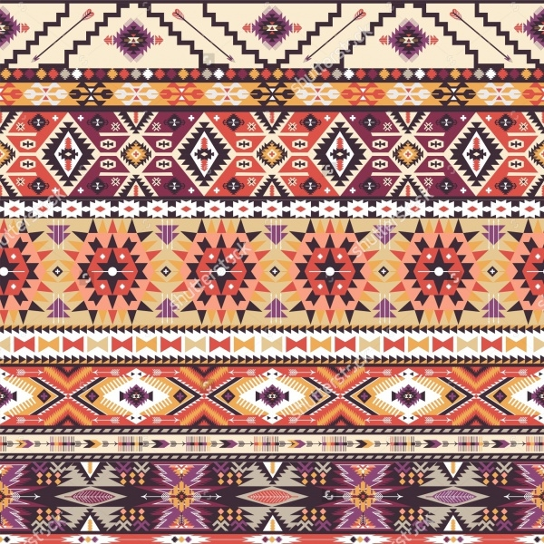 Colorful Pattern in Tribal Style