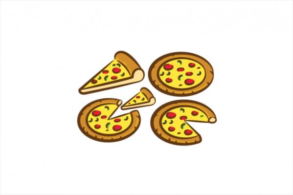 Colorful Pizza Clipart