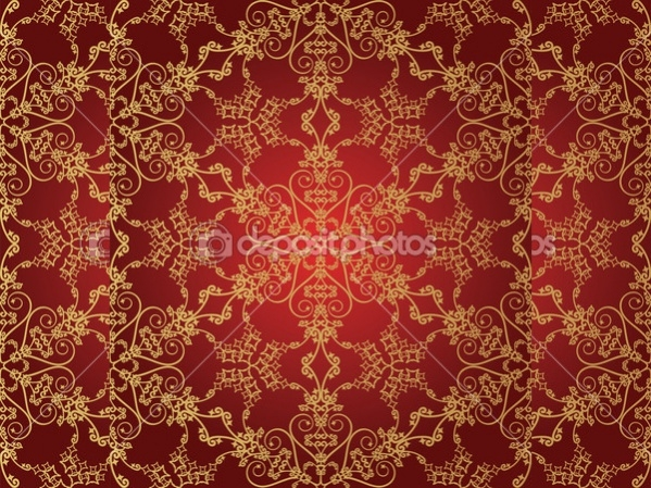 Colorful Red Snowflake Pattern