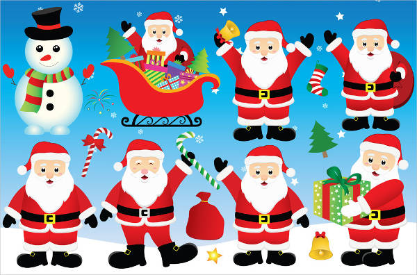 Colorful Santa Clipart