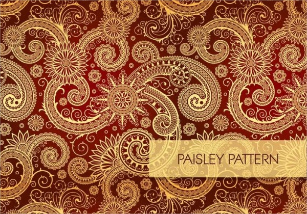 Colorful Seamless Paisley Pattern