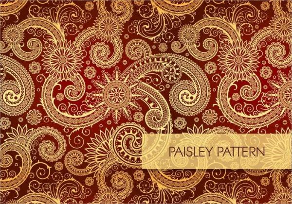 Colorful Seamless Paisley Pattern