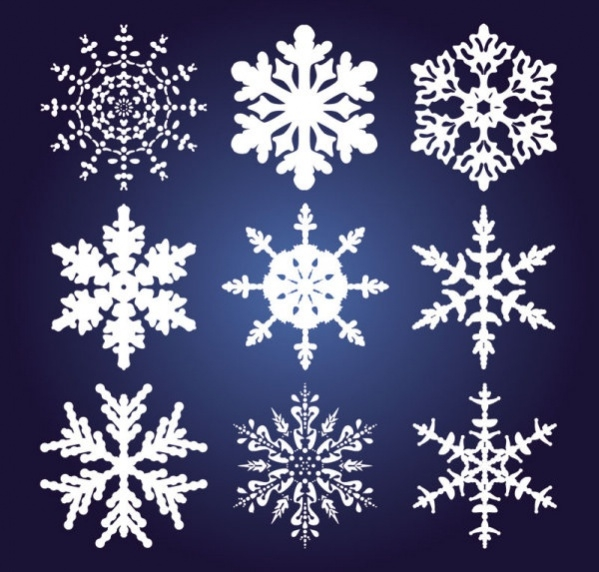 Colorful Snowflake Vector Pattern