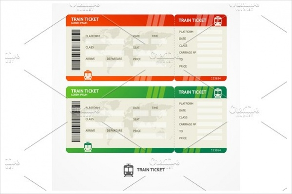Colorful Train Tickets