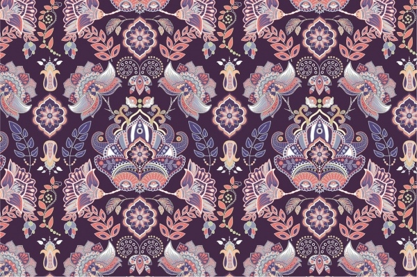 Colorful Vintage Paisley Pattern