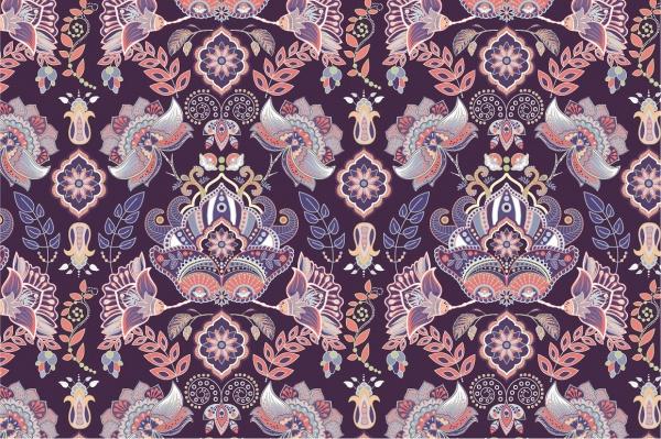 Colorful Vintage Paisley Pattern