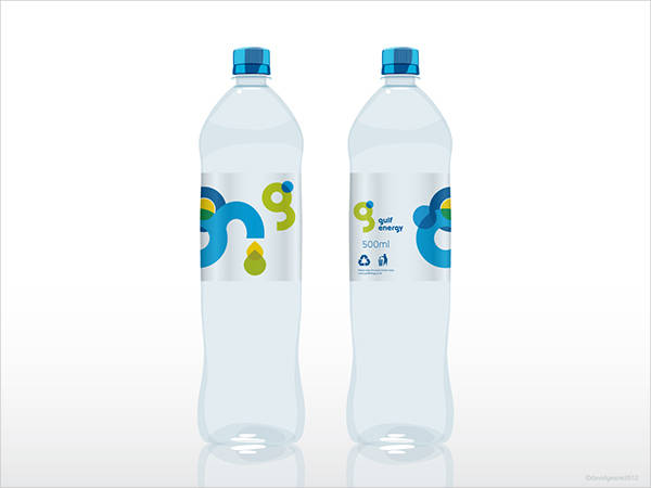 Colorful Water Bottle Label Design