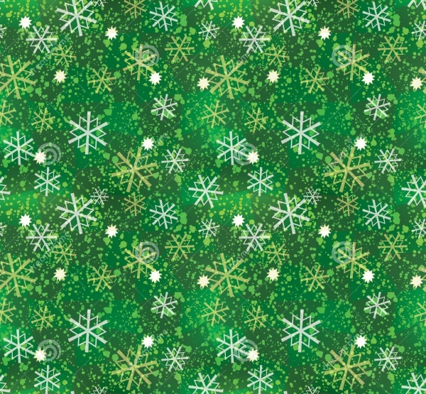 Colorful Xmas Snowflake Pattern