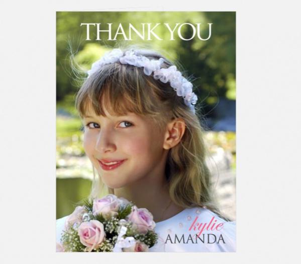 Communion Magazine Thank You Card