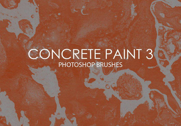 Concrete Paint Photoshop Brushes