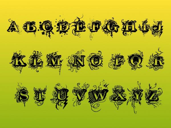 Cool Alphabet Letters