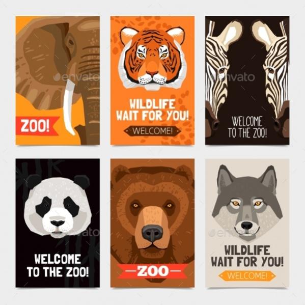 cool animal set poster