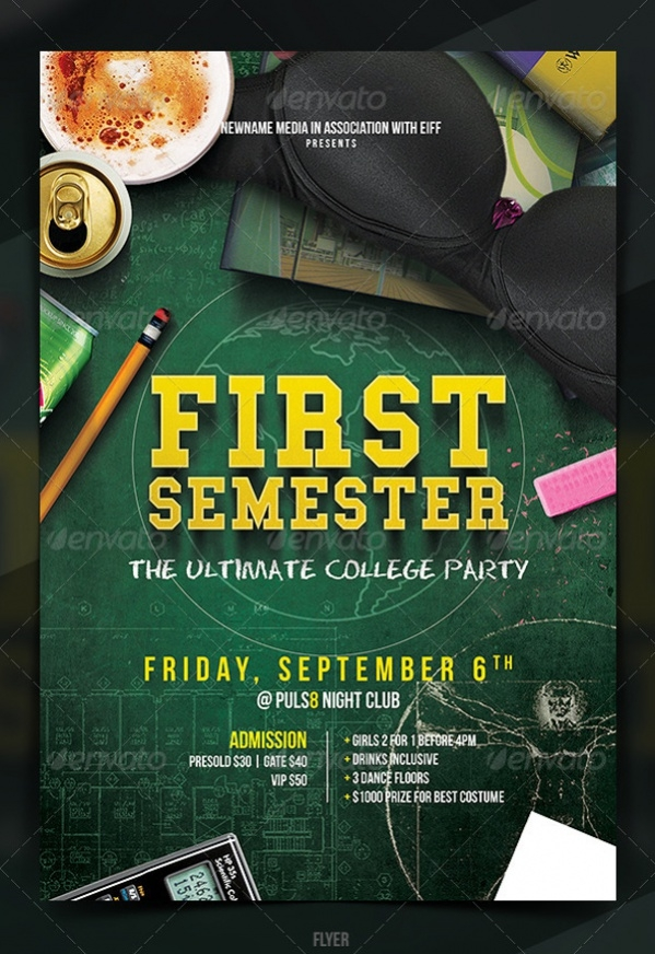 cool college party poster