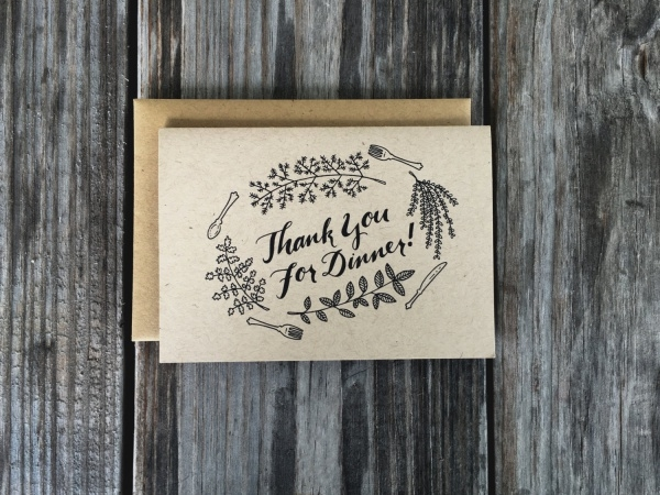 Corporate Dinner thank You Card