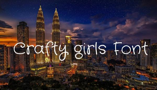Crafty girls Font