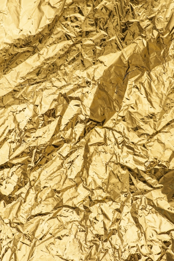Crumpled Gold Foil Metal Texture