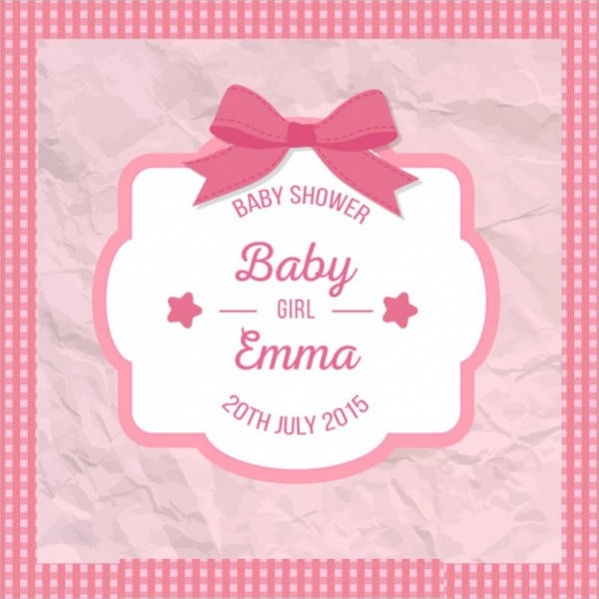 Crumpled baby shower card