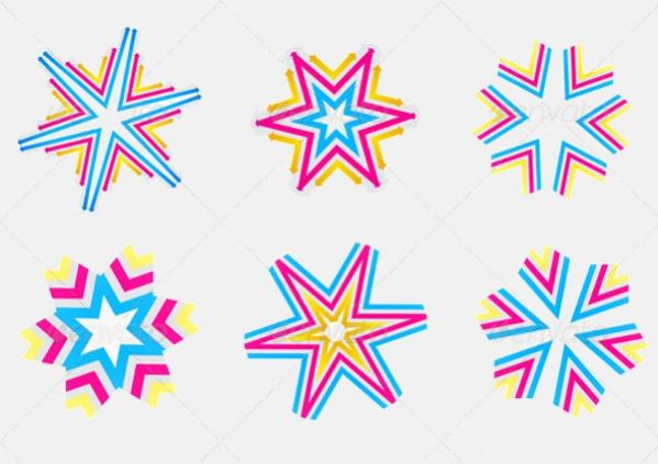 Crystal Decorative Star Shapes