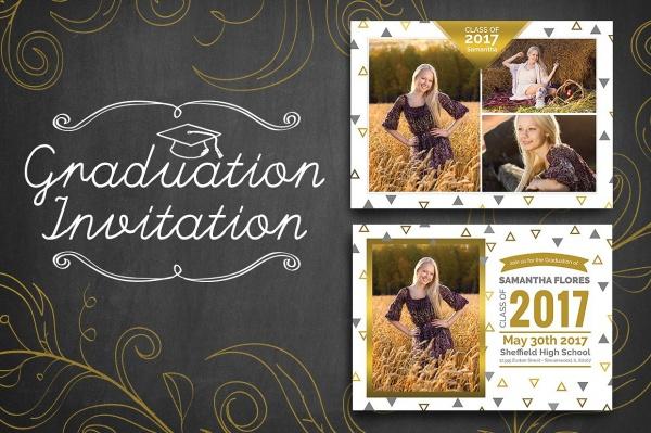 Custiomozed Graduation Invitation Template