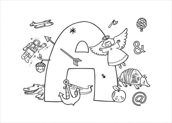 Custom Alphabet Coloring Page