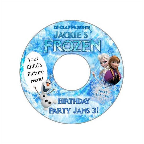 Custom frozen Cd Label Design