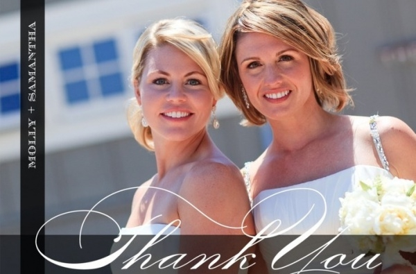 Customized Bridals Thank You Card