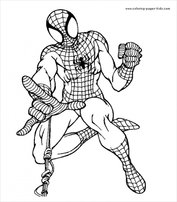 customized spiderman coloring page