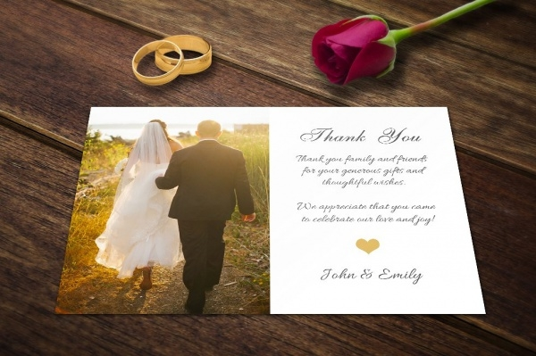 17 Wedding Thank You Card Designs PSD Vector EPS Download – Customized Wedding Thank You Cards