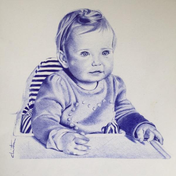 Cute Boy Pen Drawing