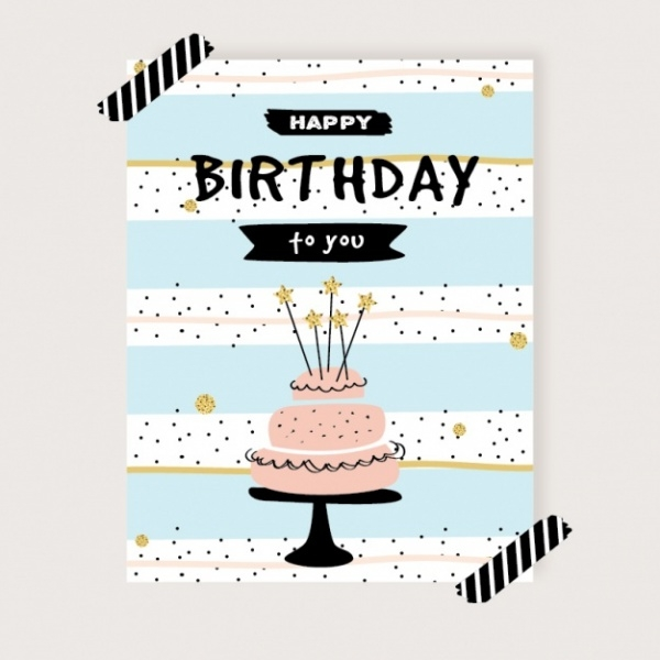 Cute birthday card Invitation