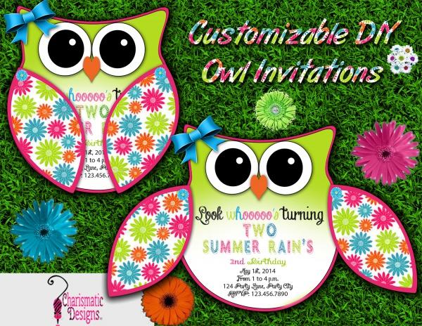 DIY Customizable Owl Invitation
