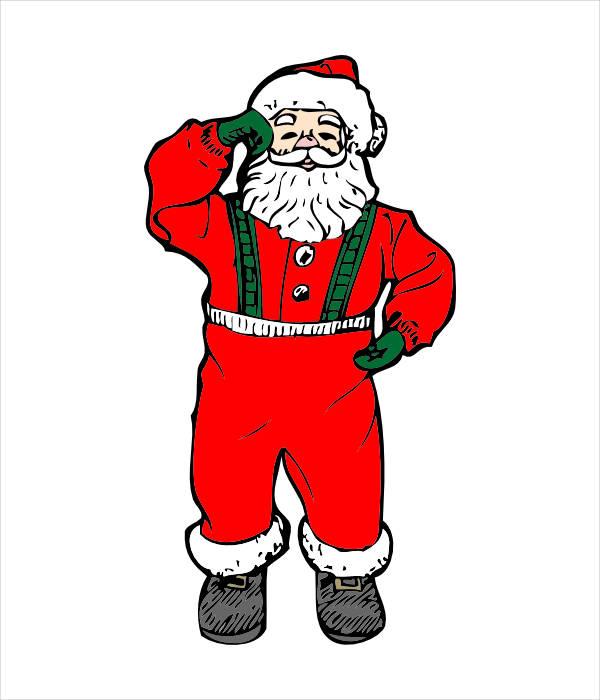 Dancing Santa Clipart