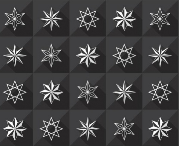 dark holiday stars pattern