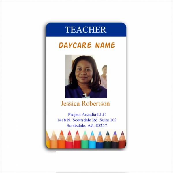 Day Care Teacher Id Card