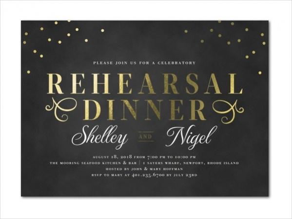 Dazzling Rehearsal Dinner Invitation