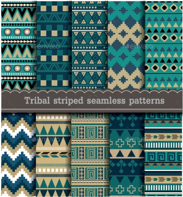 Decorative Tribal Striped Ornament Pattern