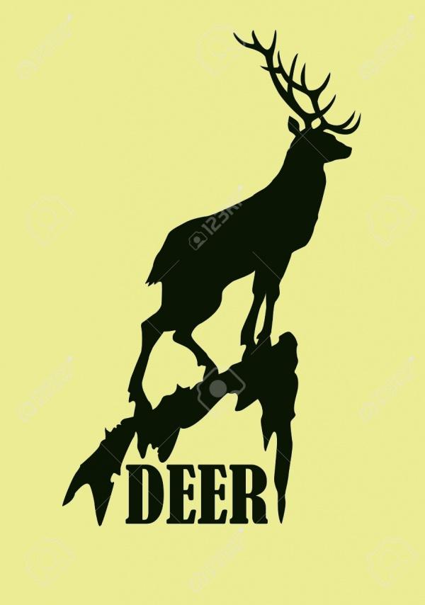 Deer Silhouette Logo design
