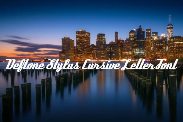 Deftone Stylus Cursive Letter Font