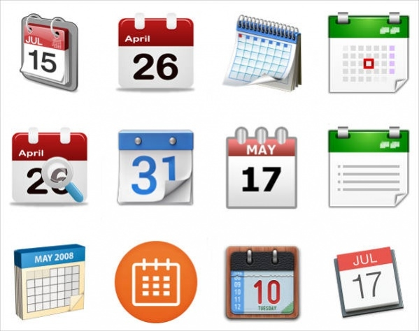 Different Calendar Icons