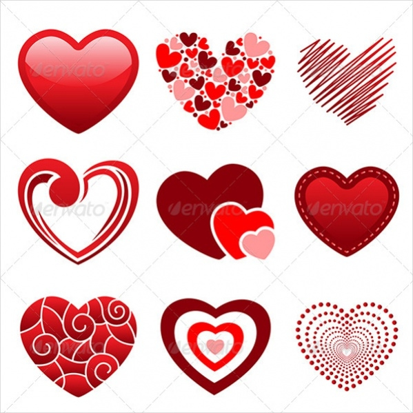 Different Heart Icons