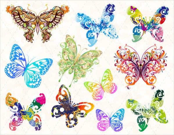 Digital Butterfly Clipart