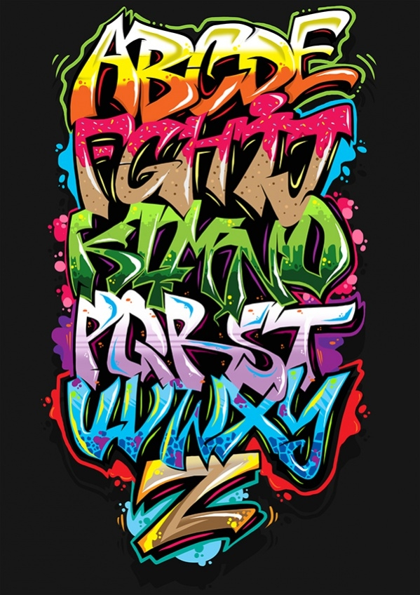 Digital Graffiti Art Typography