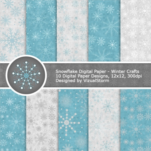 Digital Snowflake Paper Pattern