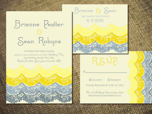 Diy Beach Wedding Invitation