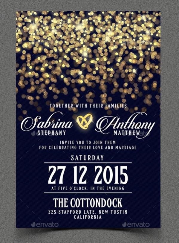 Diy Glittering Wedding Invitation