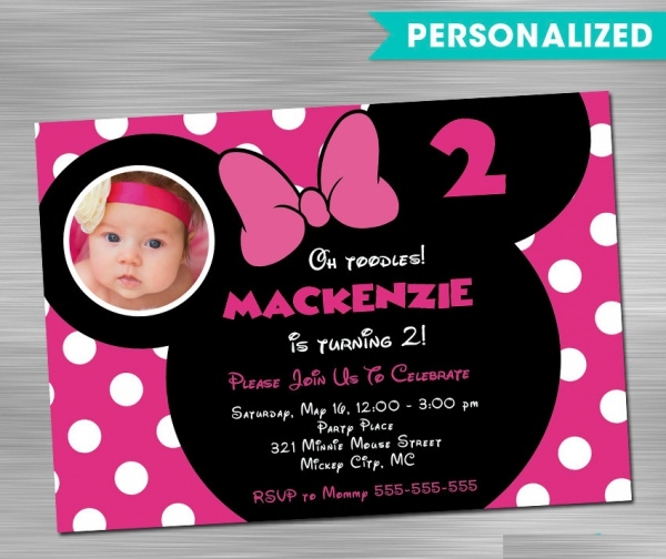 Diy Minnie Mouse Invitation