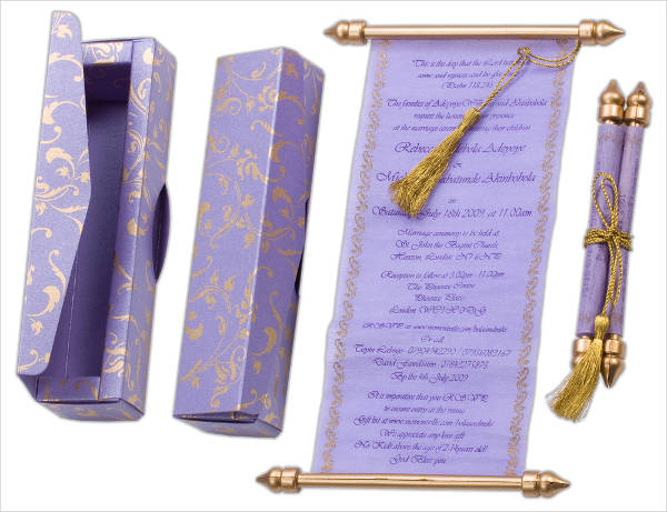 Diy Quinceanera Scroll Invitation