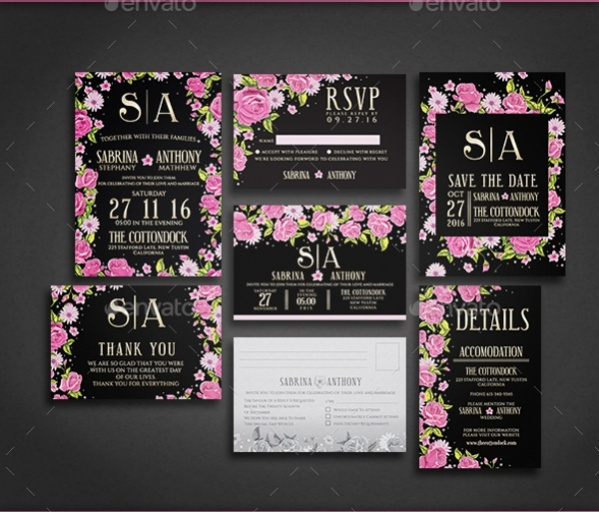 Diy Rose Wedding Invitation